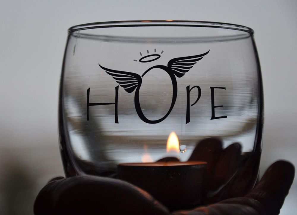 our hope candle pic mock up